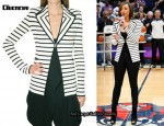 In Keri Hilson's Closet - Givenchy Ottoman Stitch Stripe Jacket