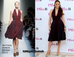 """The Back-Up Plan"" Madrid Photocall - Jennifer Lopez In Bottega Veneta"