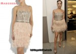 In Jennifer Lopez' Closet - Marchesa Feathered Dress