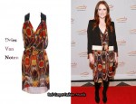 In Julianne Moore's Closet - Dries Van Noten Printed Pleat Dress