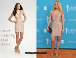 In Kristen Bell's Closet - Herve Leger Chevron Illusion Mini Dress