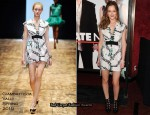 """Date Night"" New York Premiere - Leighton Meester In Giambattista Valli"