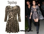 In Lindsay Lohan's Closet - Topshop Animal Print Dress