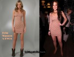 In Lindsay Lohan's Closet - Erin Wasson x RVCA Disco Mystic Studded Tank Dress