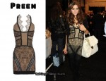 In Olivia Palermo's Closet - Preen Lace Patchwork Dress