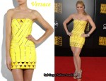 In Shakira's Closet - Versace Yellow Mini Dress