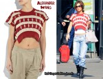 In Cheryl Cole's Closet - Alexander Wang Striped Crop Top