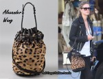 In Nicky Hilton's Closet - Alexander Wang Leopard Diego Bucket Bag