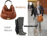 In Cat Deeley's Closet - Mulberry Mitzy Hobo & Isabel Marant Dana Fringed Canvas Boots