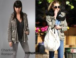 In Whitney Port's Closet - Charlotte Ronson Bleach Splattered Army Jacket
