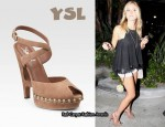 In Kristin Cavallari's Closet - YSL Criss-Cross Ankle Strap Sandals