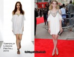 """4,3,2,1"" London Premiere - Emma Roberts In Temperley London"