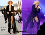 Oprah Winfrey Show At Radio City Hall - Christina Aguilera In Chanel & L'Wren Scott