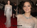 2010 Costume Institute Gala Red Carpet - Marion Cotillard In Christian Dior Couture