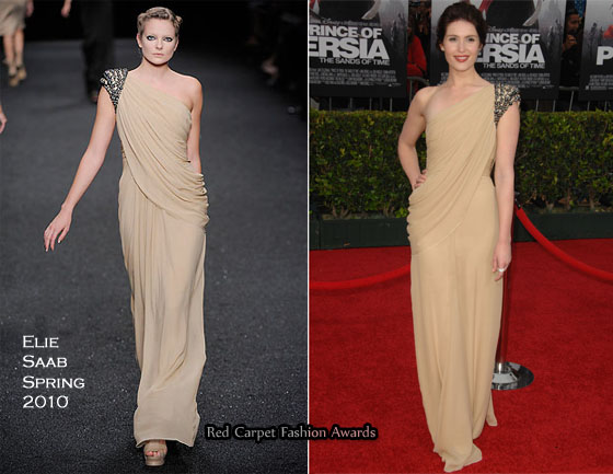 Prince Of Persia The Sands Of Time La Premiere Gemma Arterton In Elie Saab Red Carpet Fashion Awards