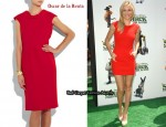 In Cameron Diaz' Closet - Oscar de la Renta Wool-Crepe Dress