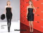 2010 Time 100 Gala – Taylor Swift In J.Mendel