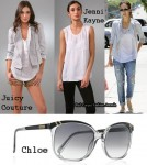 In Jessica Alba's Closet - Juicy Couture Jacket, Jenni Kayne Top & Chloe Sunglasses