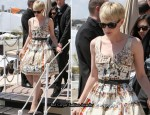 Carey Mulligan Arrives In Cannes Wearing Prada