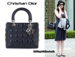 In Anne Hathaway's Closet - Lady Dior Medium Bag