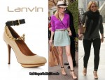 In Diane Kruger & Hilary Duff's Closet - Lanvin Chain Embellished Platform Pumps