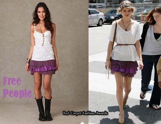 In Taylor Swift 39 S Closet Free People Ruffled Layered