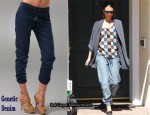 In Jessica Alba's Closet - Madewell Nephytys Twisted Tank & Genetic Denim Val Sweatpant Jeans