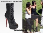 In Victoria Beckham's Closet - Christian Louboutin Alta Bouton Ankle Boots