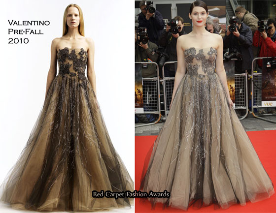 Prince Of Persia The Sands Of Time World Premiere Gemma Arterton In Valentino Red Carpet Fashion Awards
