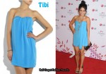 In Vanessa Hudgens' Closet - Tibi Strapless Mini Dress