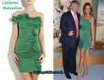 In Melania Trump's Closet - Catherine Malandrino Silk Ruffled Dress