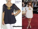 In Rachel Stevens Closet - Temperley London Nico Embroidered Silk Tunic