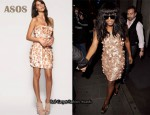 In Alexandra Burke's Closet - ASOS Sequin Cluster Bandeau Dress