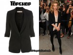 In Kate Moss' Closet - Topshop Ultimate Silk Blazer & Topshop Playsuit