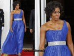 Michelle Obama Wears Peter Soronen To White House State Dinner