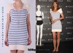 In Helena Christensen's Closet - Sonia by Sonia Rykiel Puff Sleeved Stripey Dress