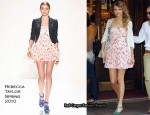 Runway To Anthropologie - Taylor Swift In Rebecca Taylor