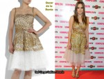 In Ana Fernandez' Closet - Oscar de la Renta Gold Embroidered Tulle Dress