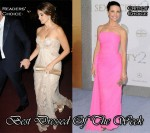 Best Dressed Of The Week - Penelope Cruz In Elie Saab Couture & Kristin Davis In Vintage Jean Desses