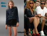 In Beyonce Knowles' Closet - Alice + Olivia Denim Military Jacket