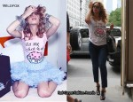 In Beyonce Knowles Closet - Wildfox Couture 'Let Me Eat Cake' Tee