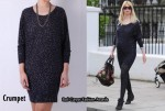 In Claudia Schiffer's Closet - Crumpet Miss C Mademoiselle Cashmere Leopard Dress