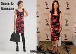 In Dana Delany's Closet - Dolce & Gabbana Ruched Floral Dress