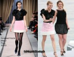 """Le Grand Journal"" - Diane Kruger & Ludivine Sagnier In Giambattista Valli"