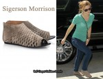 In Emma Watson's Closet - Sigerson Morrison Cutout Suede Sandals