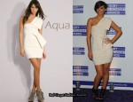 In Frankie Sandford's Closet - Aqua One Shoulder Peplum Dress