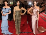 2010 Met Costume Institute Gala - Vera Famiga, M.I.A. & Jessica Alba In Gap Gowns
