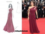 Salma Hayek Donates Her Gucci Première Gown To Charity