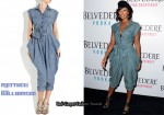 In Keri Hilson's Closet - Matthew Williamson Chambray Cotton Jumpsuit