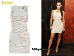 In Kim Kardashian's Closet - Preen Zip Detail Dress